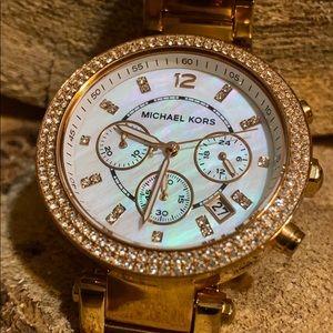 MICHAEL KORS Ladies Parker Rose Gold Watch